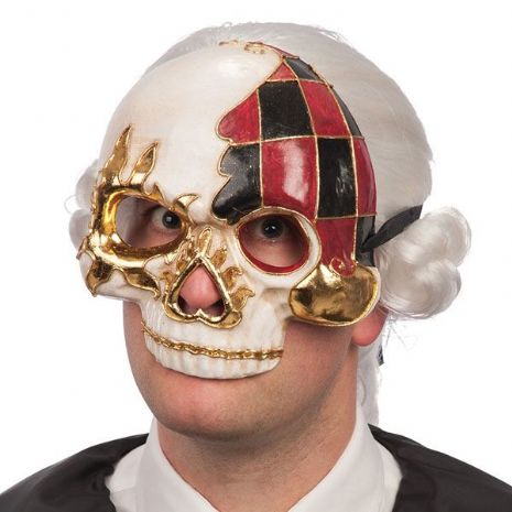 Mask Half Face Carnival Skull Parade Circus Pageant Clown